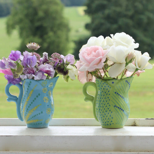 Frilly Milk Jug - Smoky Blue
