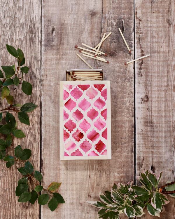 Inlay Matchbox Holder - Pink