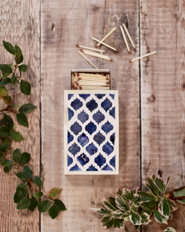 Inlay Matchbox Holder - Inky Blue