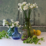 Small Glass Vase- Teal