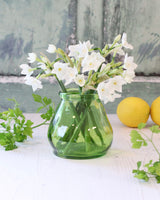 Small Recycled Glass Vase- Bright Green