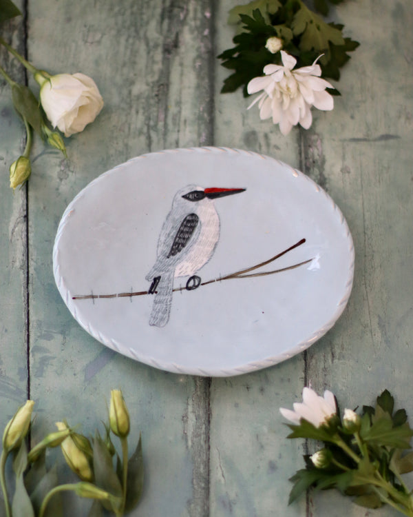 Gemma Orkin Favourite Oval Dish - Woodland Kingfisher