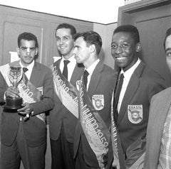 Pele alongside a range of World Champions; Pepe, Zito and Gylmar