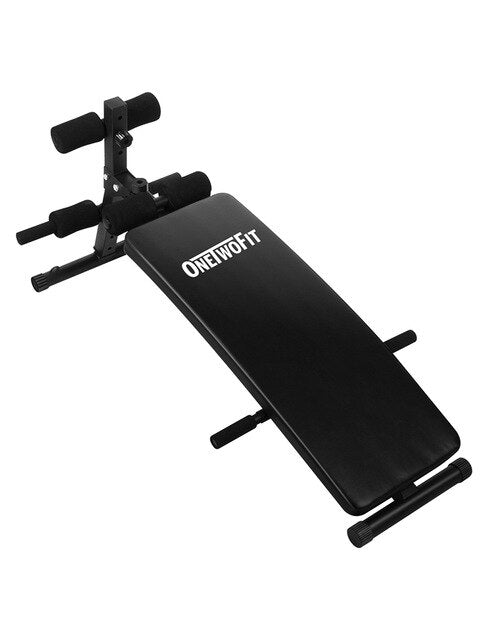 OneTwoFit Bench Press Gym Abdominales Foldable Sit-up Bench Fitness Equipment for Home Indoor Gym Machine Workout Panca Palestra