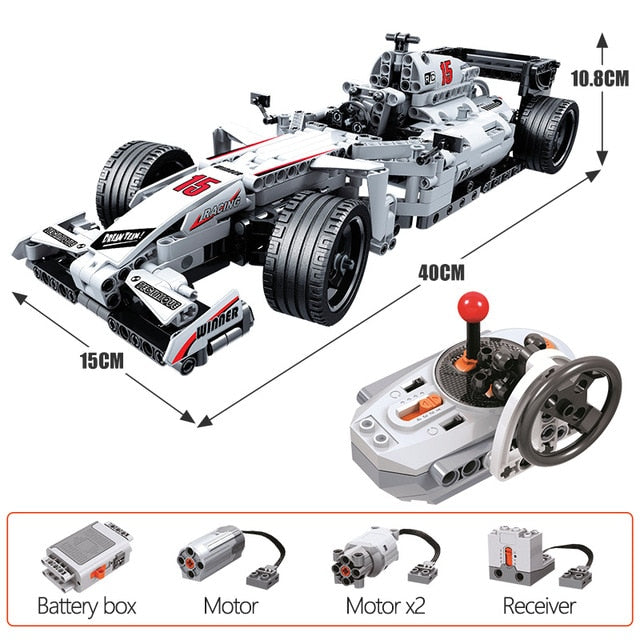 ERBO 729pcs City Racing Car Remote Control High-Tech RC Car Electric truck Building Blocks bricks Toys For Children gifts
