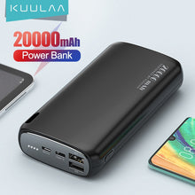 Load image into Gallery viewer, KUULAA Power Bank 20000mAh Portable Charging Poverbank Mobile Phone External Battery Charger Powerbank 20000 mAh for Xiaomi Mi