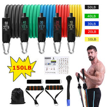 Load image into Gallery viewer, 16Pcs Resistance Bands Set Expander Yoga Exercise Fitness Rubber Tubes Band Stretch Training Home Gyms Workout Elastic Pull Rope