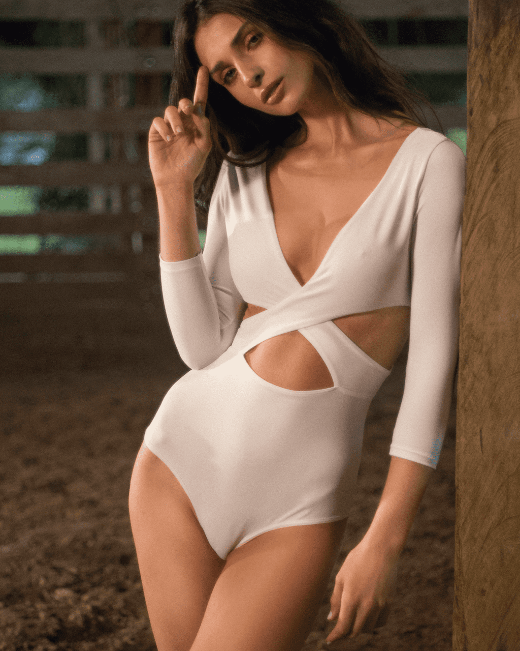WHITE MOON Bodysuit