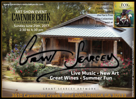 Art show at Cavender Creek Vineyards and Winery