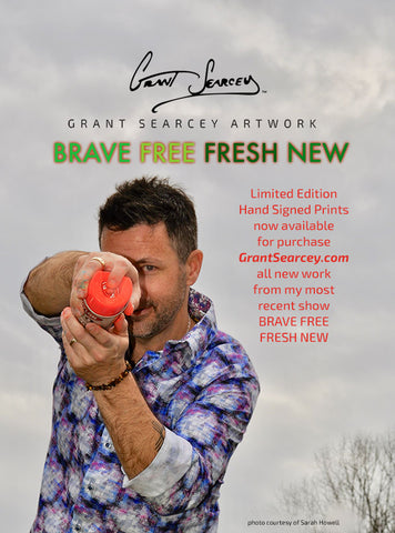 Grant Searcey at his show BRAVE FREE FRESH NEW