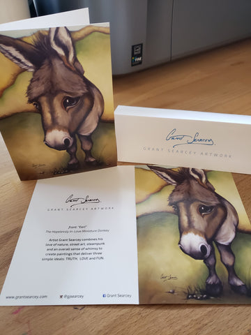Earl the Donkey Greeting Cards