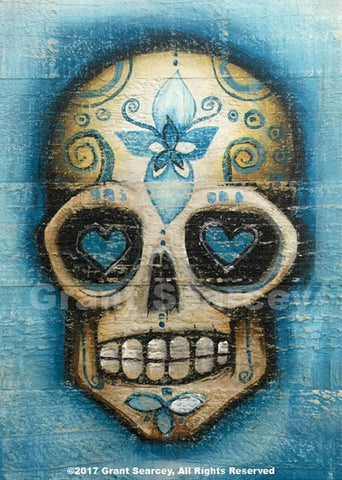 Blue Lotus Sugar Skull