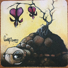 Bleeding Hearts Turtle Coaster