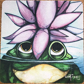 Lotus King Frog Coaster