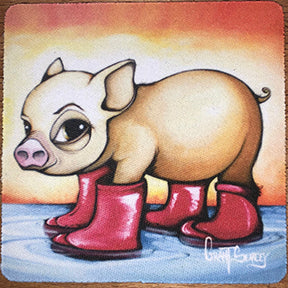 Olivia Pig in Boots Coaster