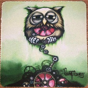 Steampunk Owl Coaster