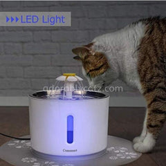 adorablycatz-USB Cat Water Fountain-led