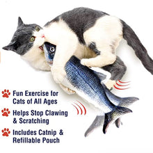 Load image into Gallery viewer, Floppy Fish™ Cat Kicker Toy