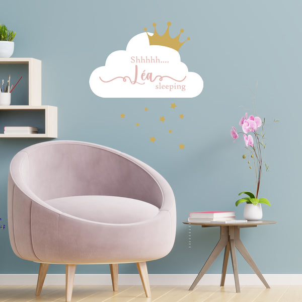 Wall sticker Cloud & crown
