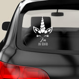 Baby on board sticker Unicorn