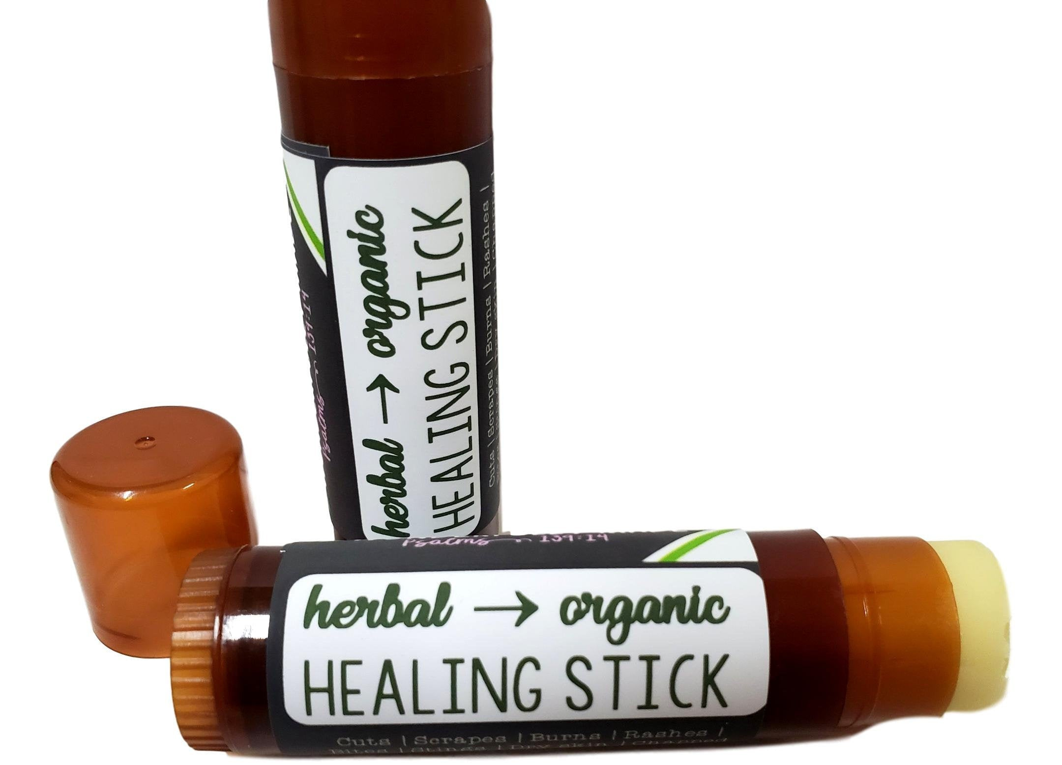 Herbal Healing Stick | Natural Remedy Salve | Organic Eczema Salve | Chapped Lip Relief | Large Chapstick | Scar Remover | Travel Size Tube