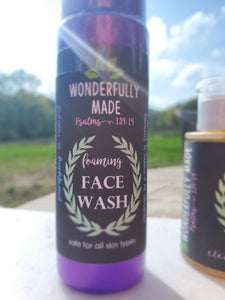 Organic Face Wash | Foaming Natural Facial Care | Gift for her | All natural | Moisturizing | Safe for all skin types | Cleansing Foam