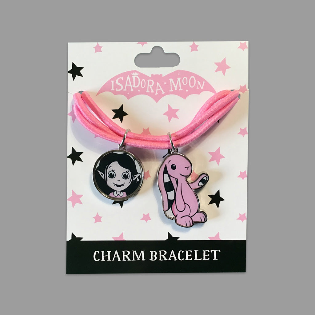 Isadora Moon and Pink Rabbit charm bracelet - Limited Edition