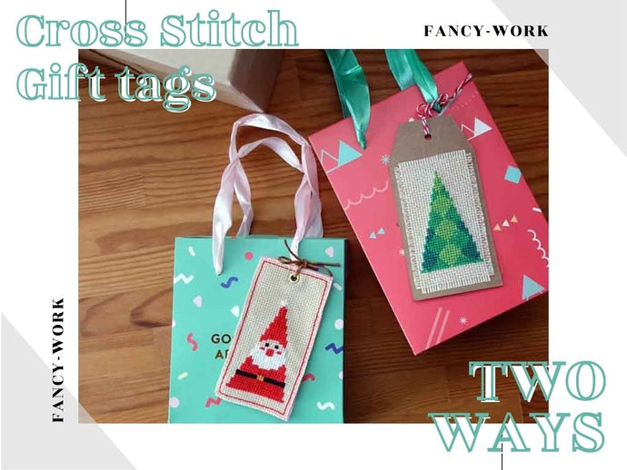 How to Finish a Cross Stitch Gift Tag