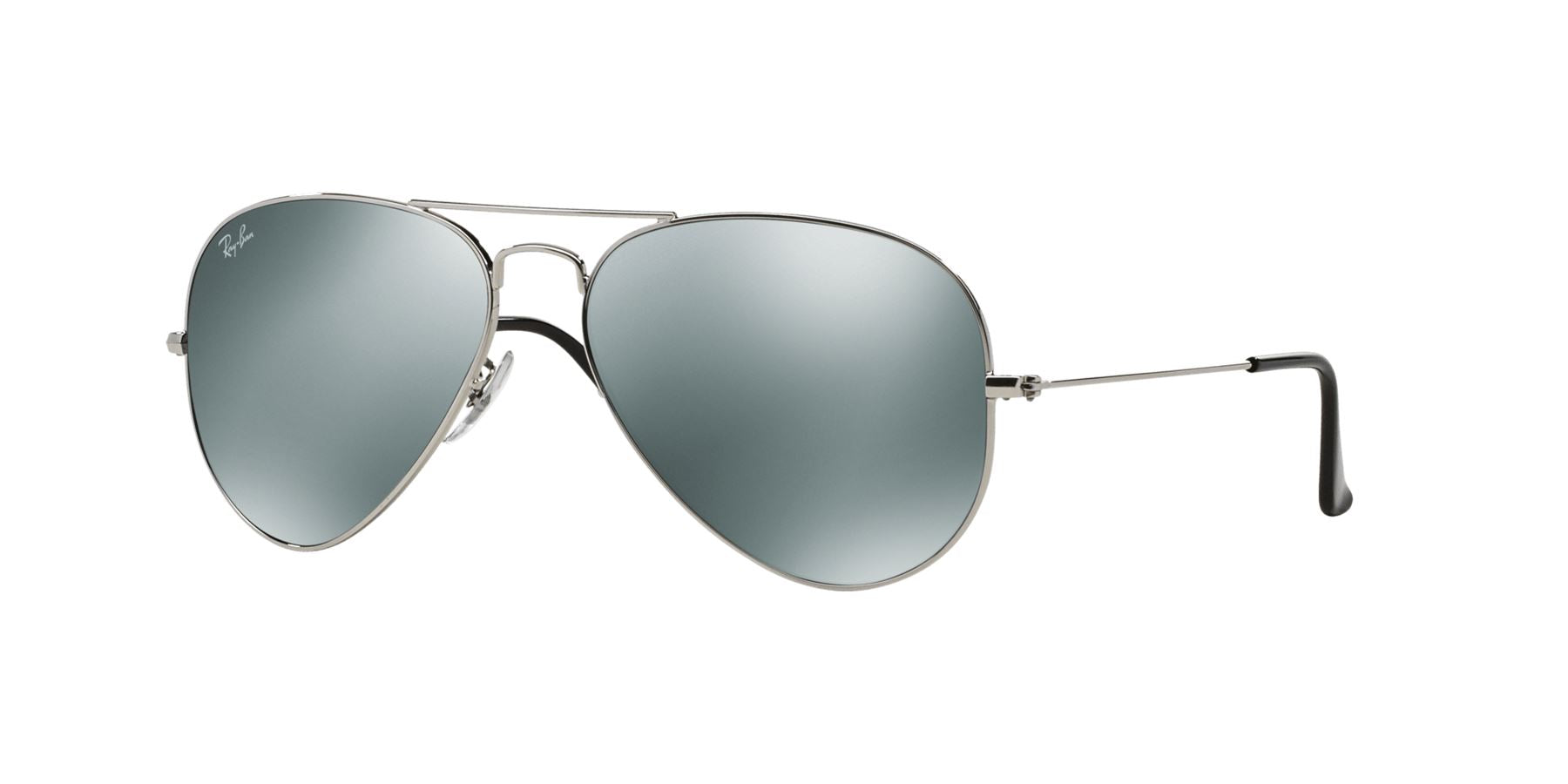 Ray-Ban Sunglasses Aviator RB3025 W3277 Silver Crystal Grey Mirror  ** - Size - 58