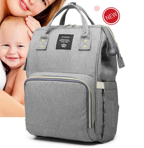 Lequeen Brand Diaper Bag Large Capacity USB Mummy Bag Travel Backpack Designer Nursing Bag for Baby Care