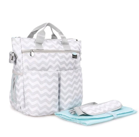 Multifunctional Mummy Maternity Diaper Bags Change Pad Hooks Tissue Box Baby Bag Travel Nappy Bag New Fashion Diaper Tote Bag