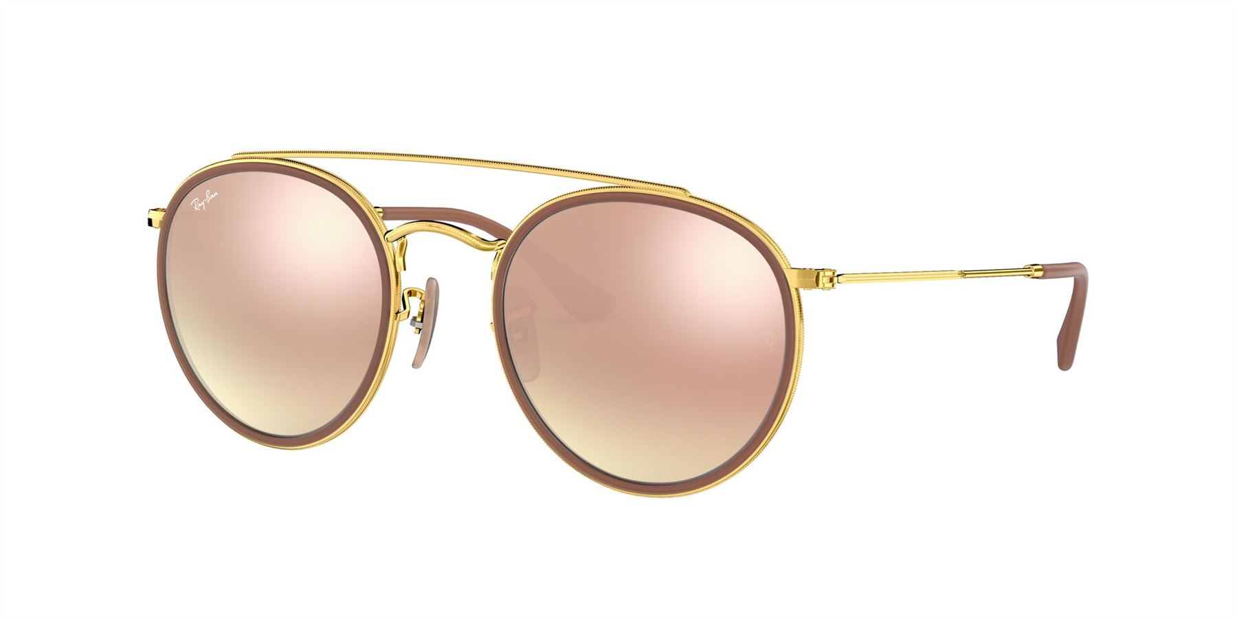 Ray-Ban Sunglasses RB3647N 001/7O Gold/Brown Gradient-Pink Mirror ** - Size - 51