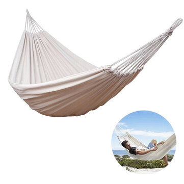 Double Person Max Load 120kg Cotton Hammock Camping Garden Beach Travel Swing Hanging Chair Max Load 120kg