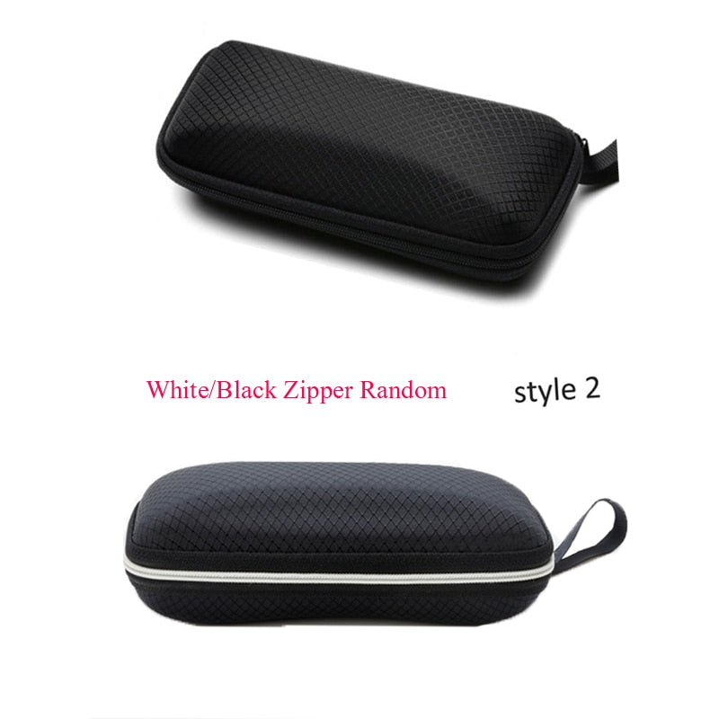 Protable Sunglasses Protector Travel Pack Pouch Glasses Case 1Pcs Black Zipper Box Hard Eyewear Accessories