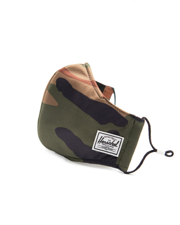 Classic Fitted Face Mask - Woodland Camo