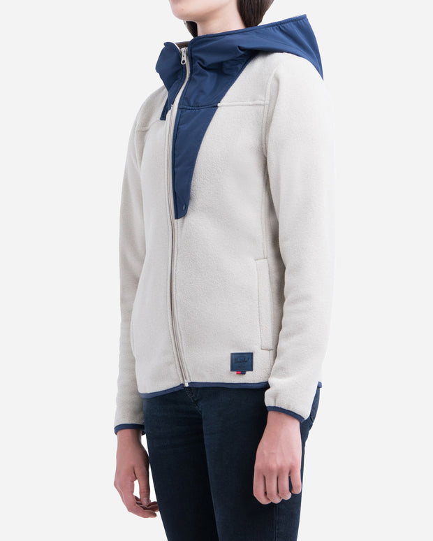 Herschel Supply Co. | Chaqueta Fleece Zip Up - Oatmeal / Peacoat | Trait Store Barcelona