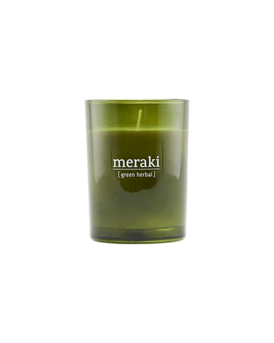 Scented candle 35h. - Green Herbal