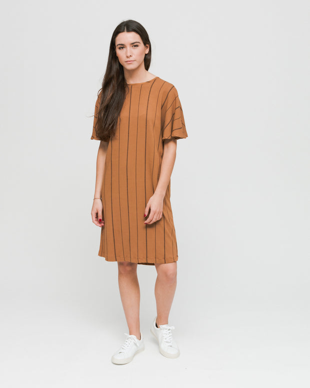 Wemoto W | Vestido Byron Printed - Brown Sugar Black | Trait Store Barcelona