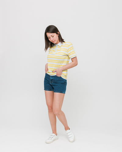 Thinking Mu W | Polo Hemp Stripe Irina - Multicolor | Trait Store Barcelona