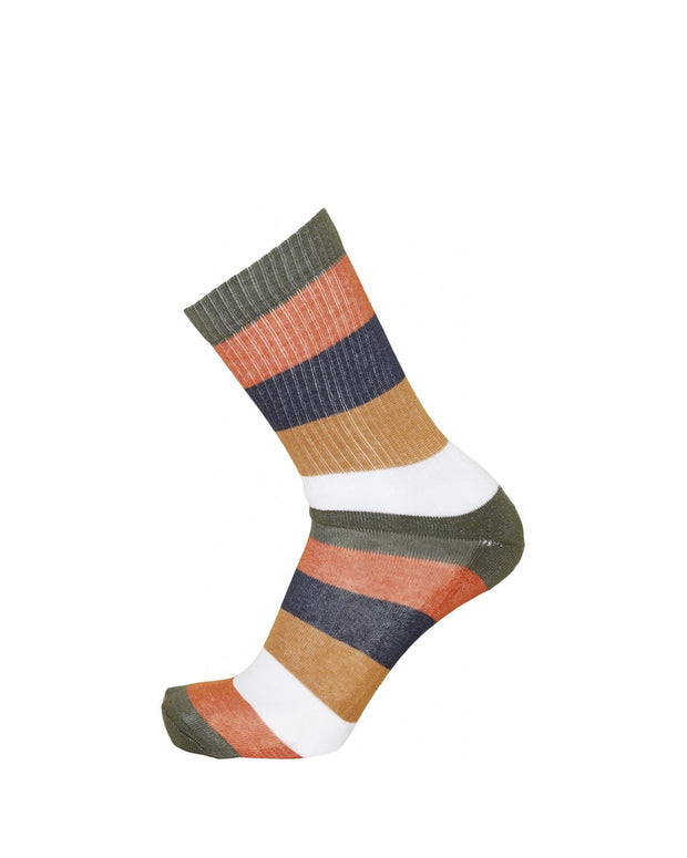 Calcetines Linden Block Striped - Forrest Night