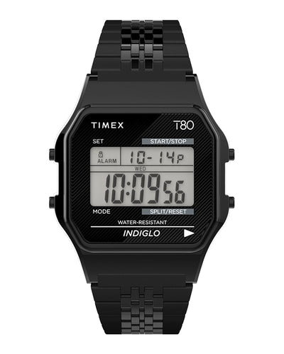 Timex T80 34mm Bracelet Watch - Black