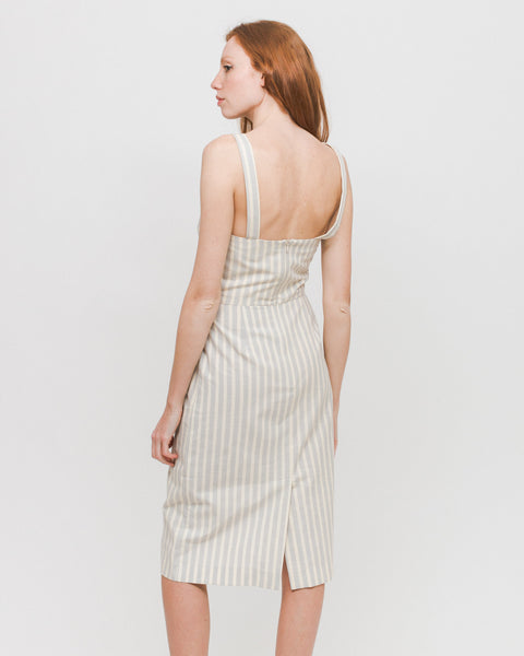 Vestido Cesar - Grey Stripes