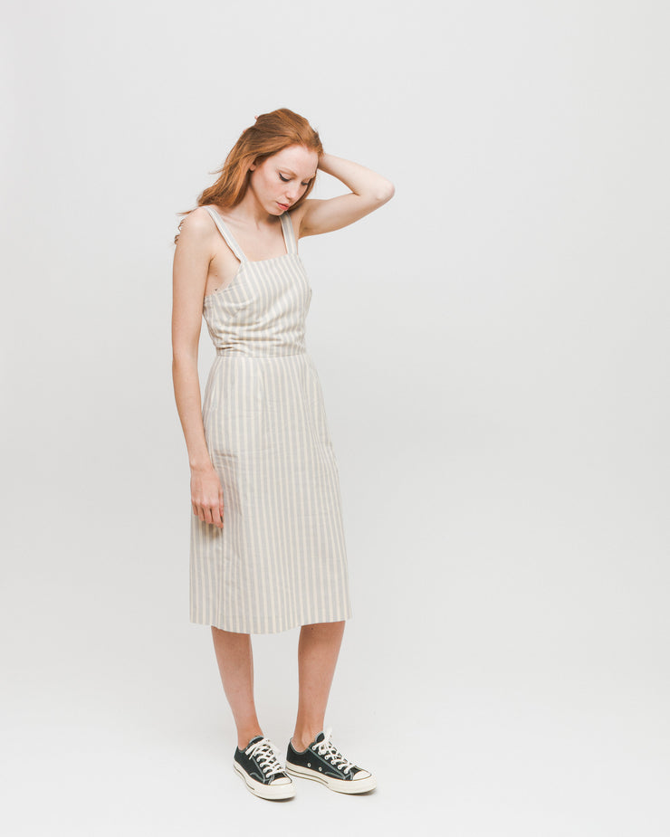 Diarte | Vestido Cesar - Grey Stripes | Trait Store Barcelona