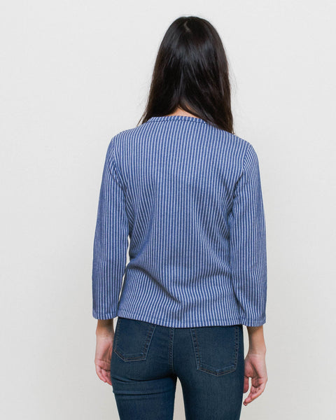 Camiseta Pupi - Navy Stripes
