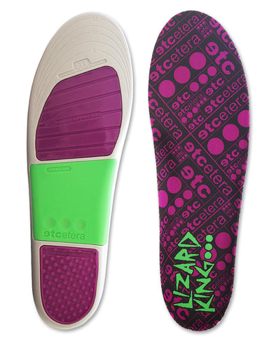 Etcetera Lizard King Insoles top and bottom view