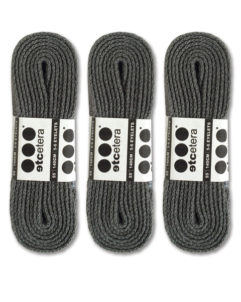 Etcetera Flat Shoe Laces - Gray - 3 Pack