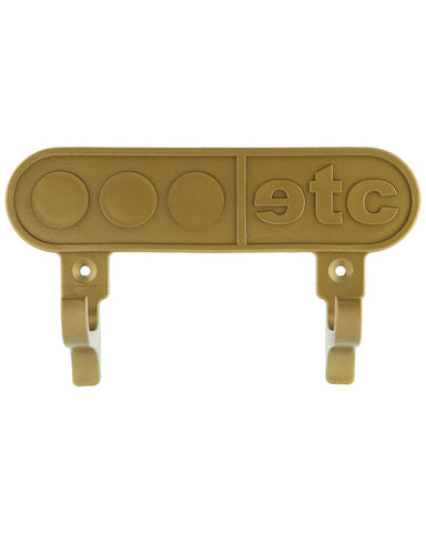 Skateboard wall mount board holder in gold - by Etcetera
