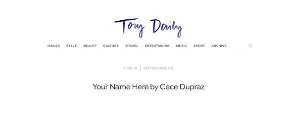 Your name here: Cece DuPraz gets a shout out on Tory Daily