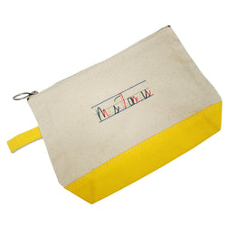 Zippered Canvas Pouch - Design your own