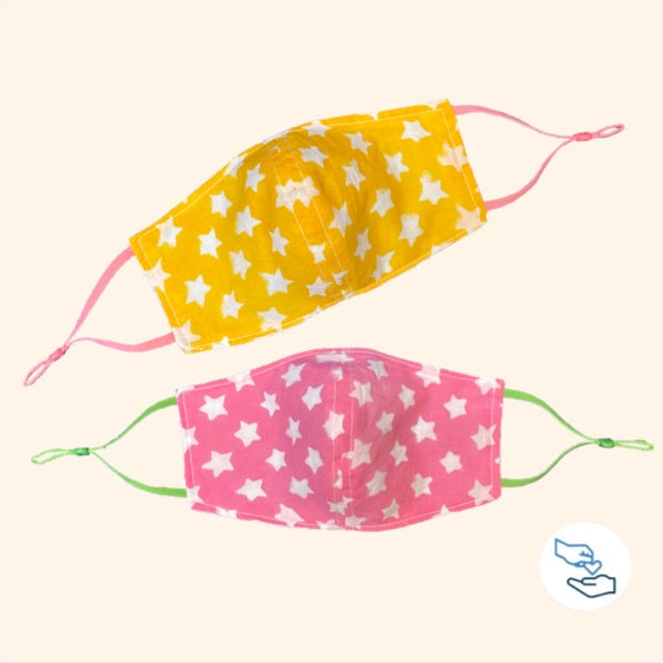 Face Cloth Kids Pair of Pink/Yellow ⭐